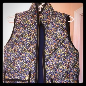 J.Crew Excursion vest in Liberty Catesby floral